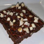 Foto de um brownie de batata doce