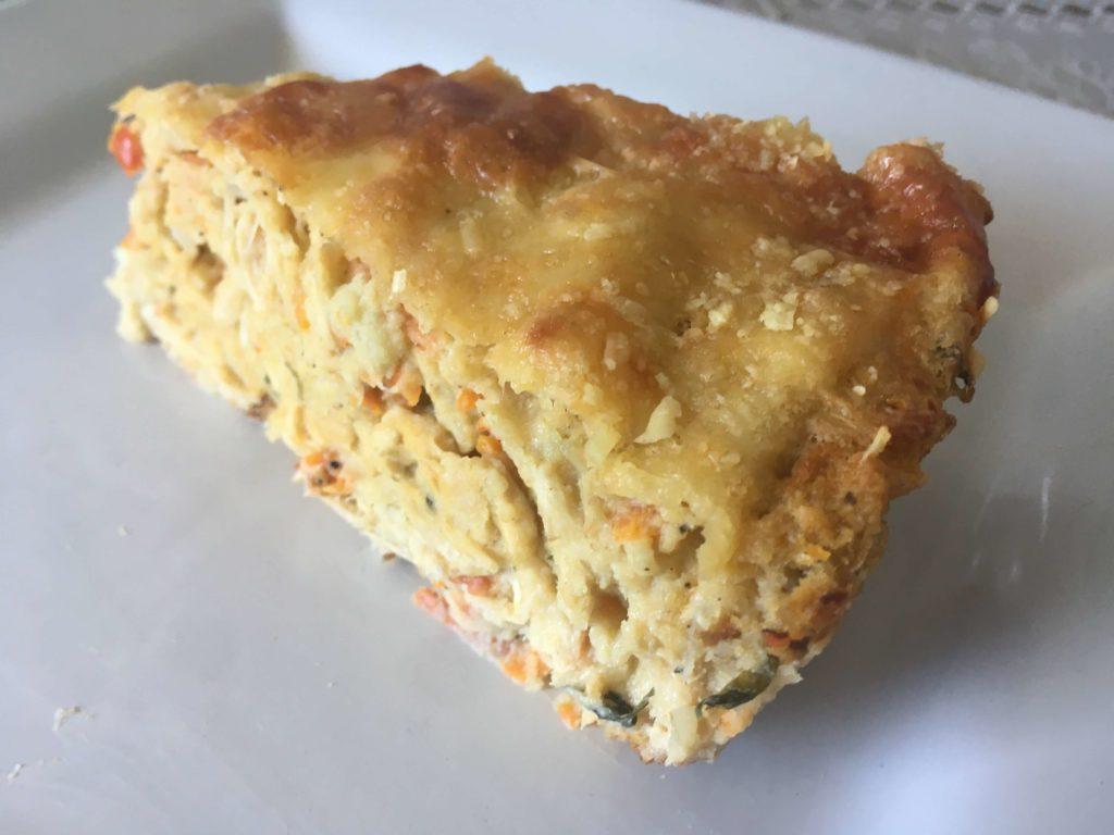 Imagem de torta de couve-flor com frango